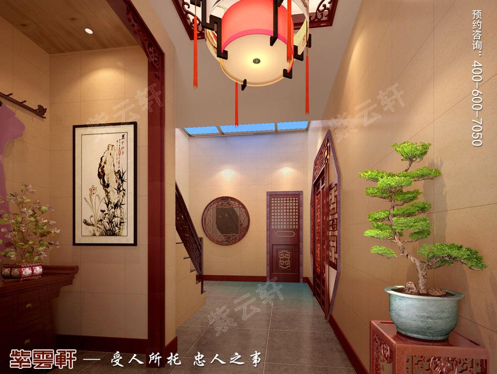 苏州别墅现代中式装修图片,走廊现代中式设计