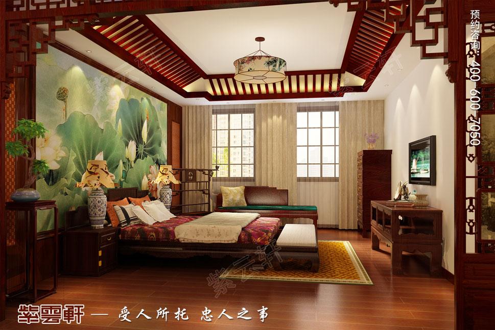 苏州别墅现代中式装修图片,主卧中式装修效果图