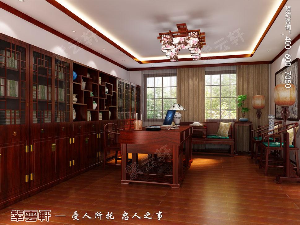 苏州别墅现代中式装修图片,中式书房装修图