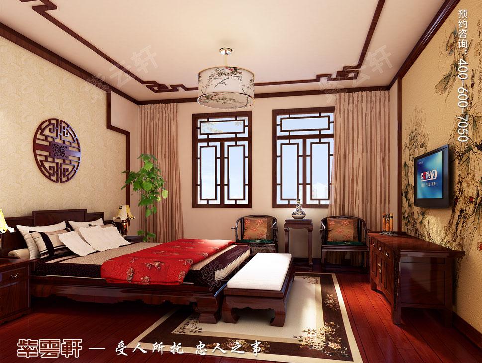 苏州别墅现代中式装修图片,客卧中式装修