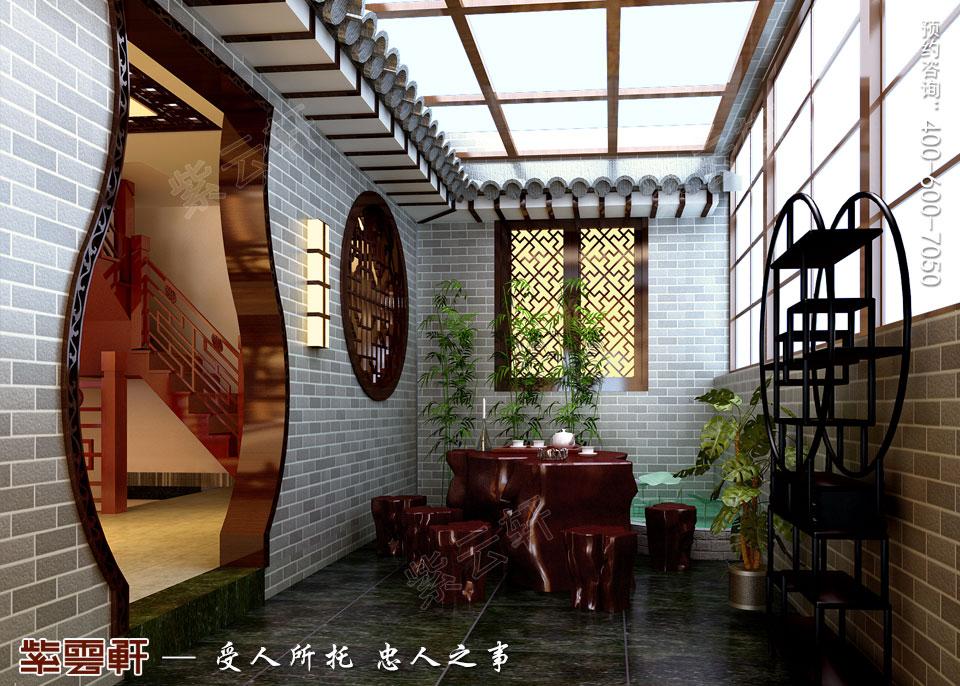 联排别墅简约古典中式风格装修效果图,阳台中式设计