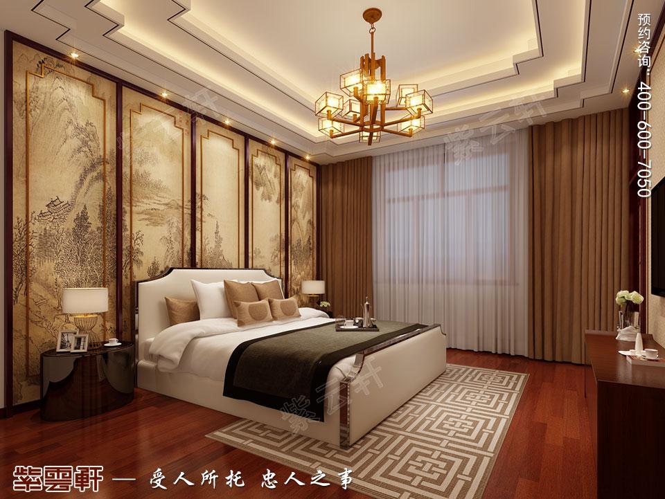 北京别墅现代中式装修效果图,女儿房中式设计