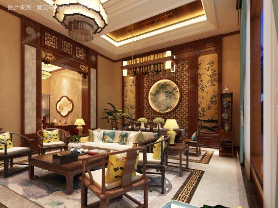 中式装修客厅效果图