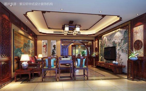 中式装修效果图客厅