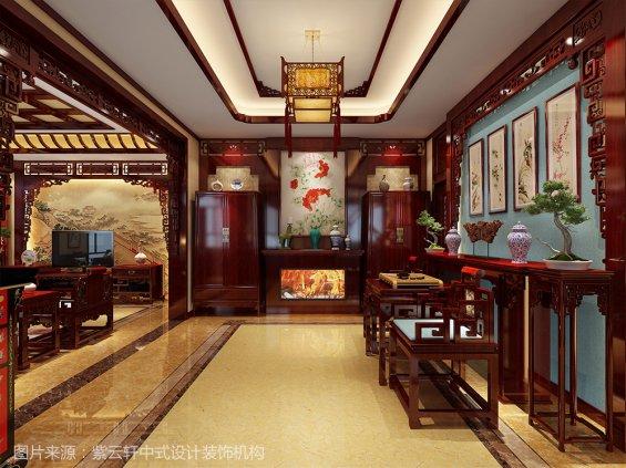 中式装修效果图 别墅