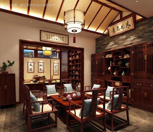 茶室中式装修实景图