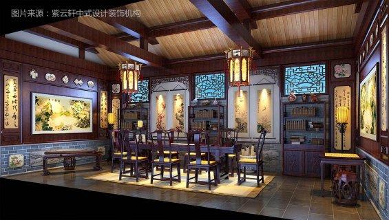 书房中式装修实景图