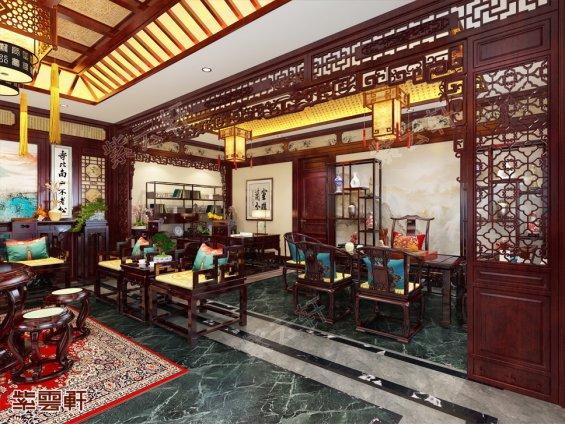 中式设计书房区域