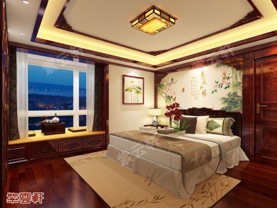 沈阳王府别墅卧室中式装修风格