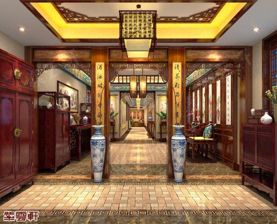 湖南韶山市别墅中式装修 明年明月亦清朗