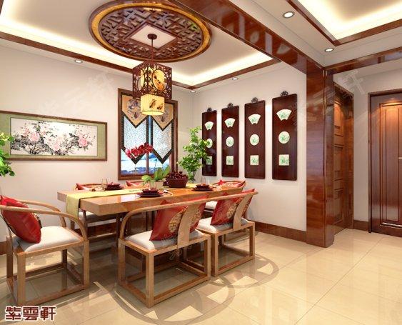 北京大兴别墅装修中式风格
