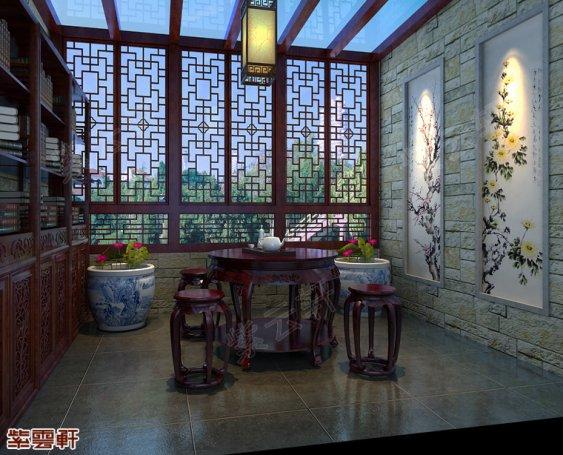 中式装修露台图