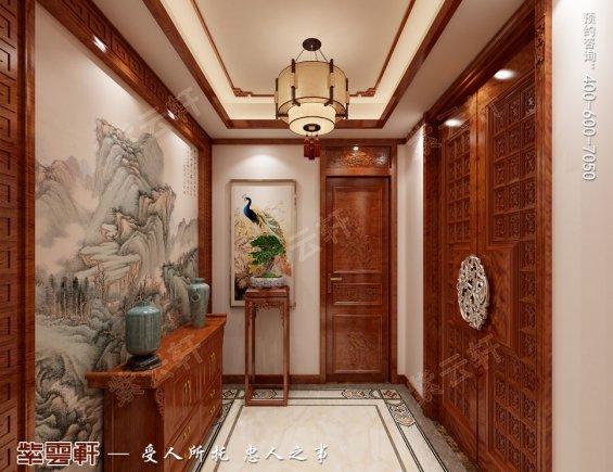 中式装修门厅