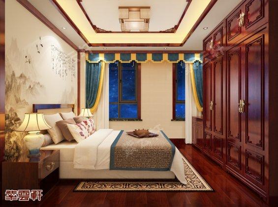 卧室中式设计装修效果图