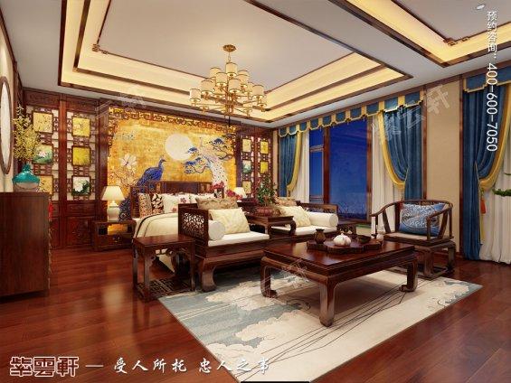 山西王先生别墅卧室装修中式风格