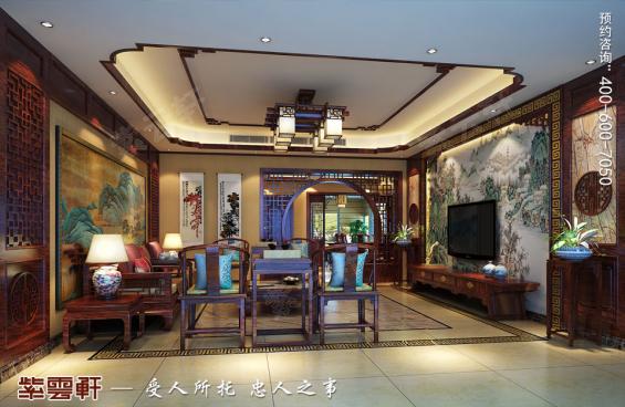 客厅中式装修效果图,中式设计