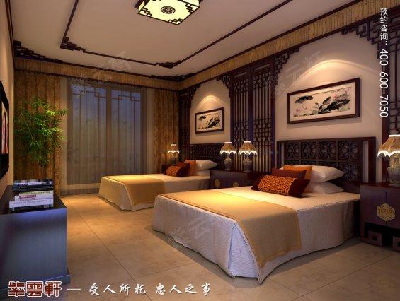 双人儿童房中式装修,卧室中式装修效果图