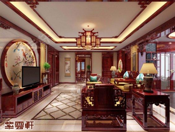 中式古典风格,客厅中式装修效果图