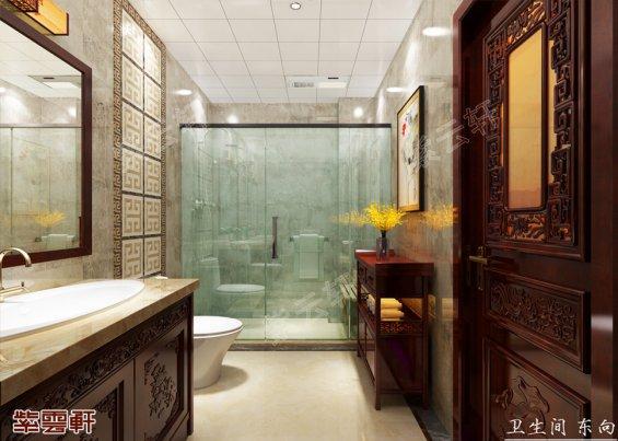 中式卫生间,卫生间中式装修设计图