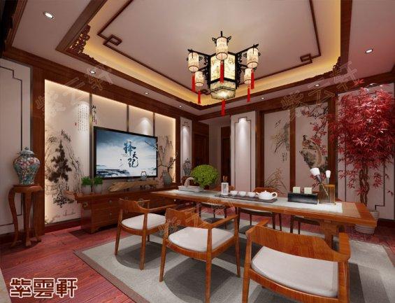 茶室中式装修,中式茶室