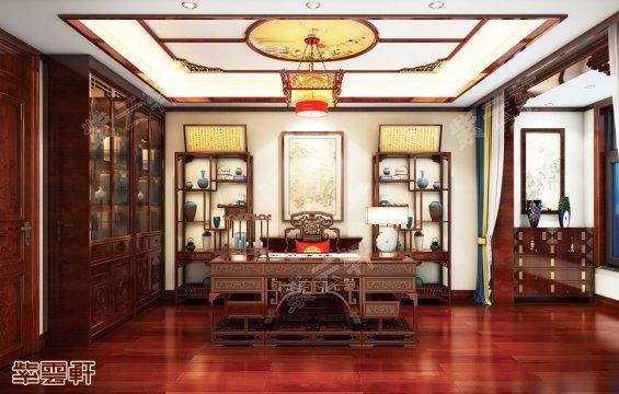 中式书房,中式装修书房