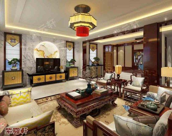 四合院客厅中式设计