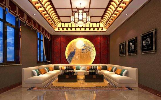中式影音室,中式影音室效果图