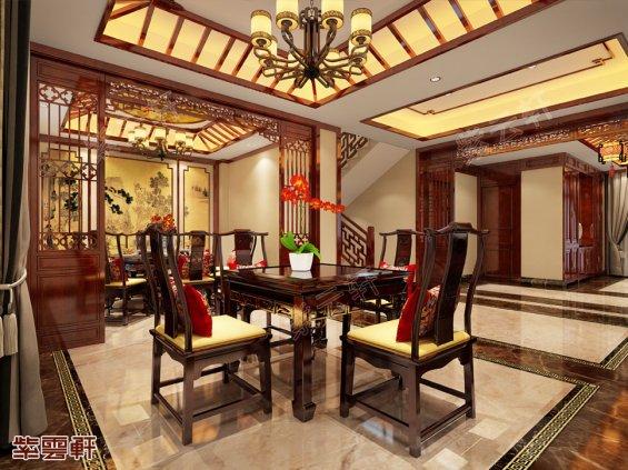 中式餐厅装修设计图片