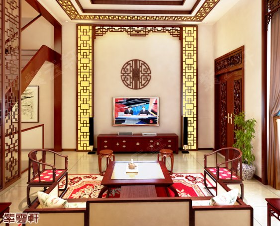 中式设计,客厅中式设计图片