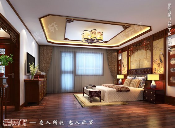 卧室中式设计,中式设计效果图