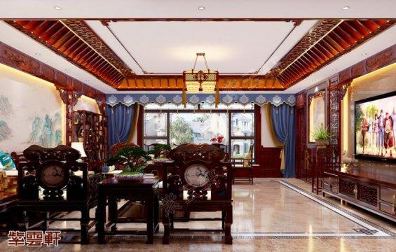 客厅装修效果图,中式客厅装修