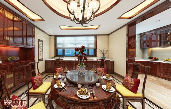 中式装修,中式餐厅效果图
