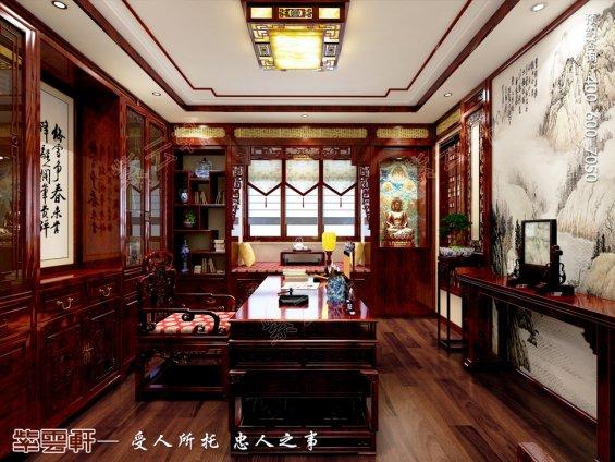 中式设计,书房中式装修图片