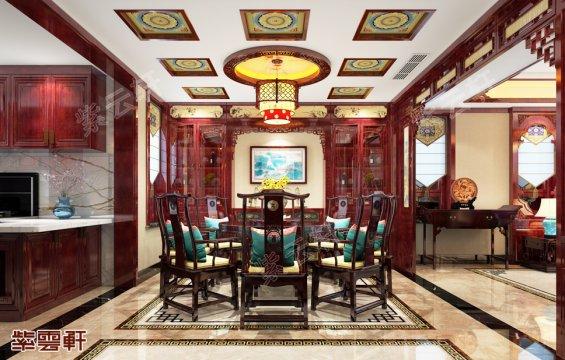 中式餐厅,中式装修效果图
