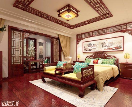 中式装修,老人房中式装修效果图