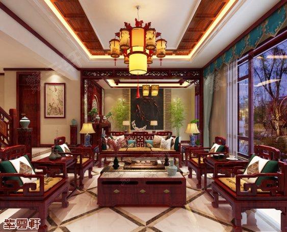 中式装修,客厅装修效果图