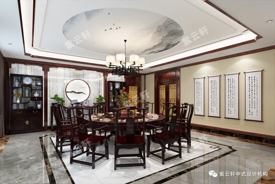中式餐厅装修,餐厅装修效果图