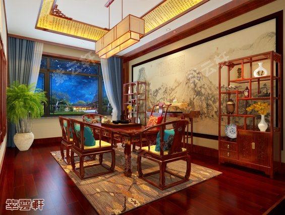 中式茶室,茶室装修效果图