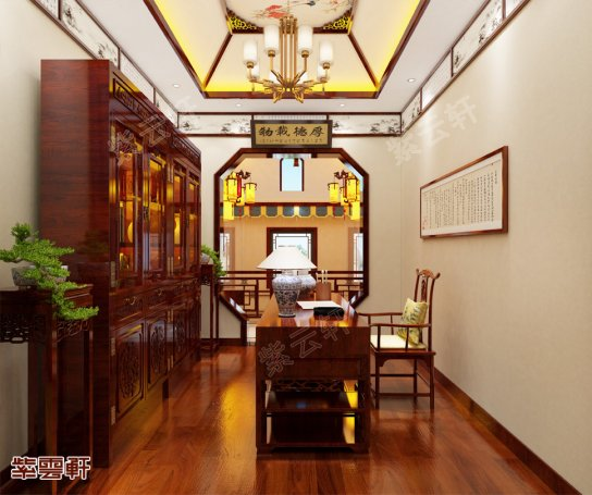 中式装修,书房装修效果图