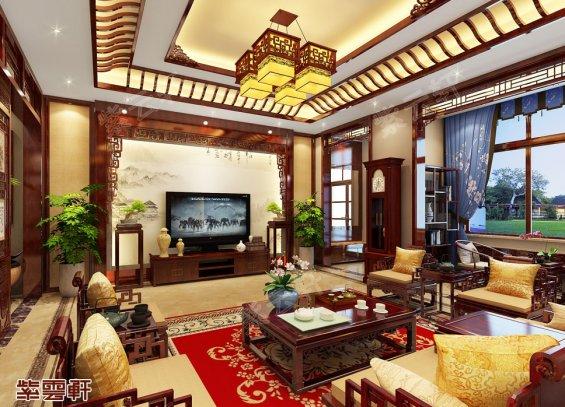 客厅装修效果图,中式装修
