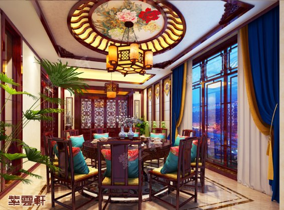 中式餐厅装修,中式设计餐厅