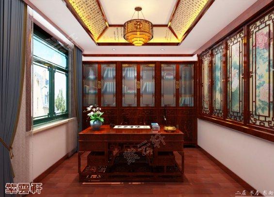书房装修效果图,中式装修