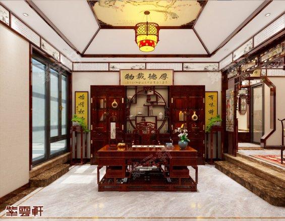 中式装修效果图书房