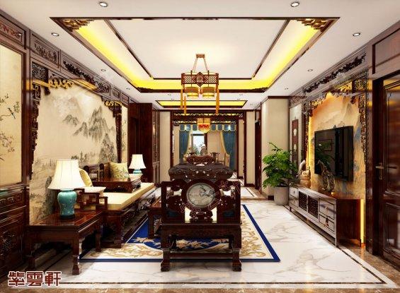 豪宅客厅中式装修